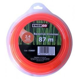 Rezerva trimmer TEHNIK 2.4x87m portocalie Energo