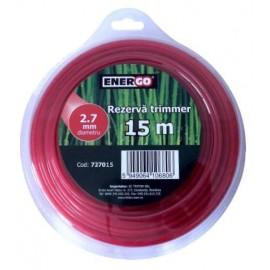 Rezerva trimmer TEHNIK 2.7x15m rosie Energo