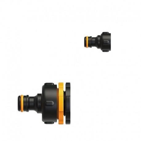 """Racord robinet (adaptor) universal simplu G1"""" (33,3mm) Fiskars tip LB30 din plastic"""