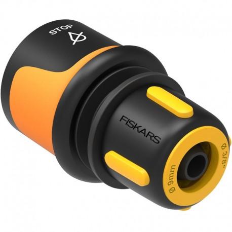 "Conector furtun STOP 9 mm (3/8""), Fiskars, din plastic"