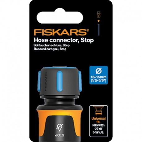 "Conector furtun STOP 13-15 mm (1/2-5/8""), Fiskars, din plastic"