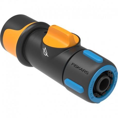 "Conector cu robinet incorporat On/Off, Fiskars 13-15 mm (1/2-5/8"")"