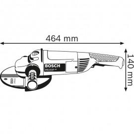 Polizor unghiular Bosch 230mm 2400W  GWS 24-230 JH